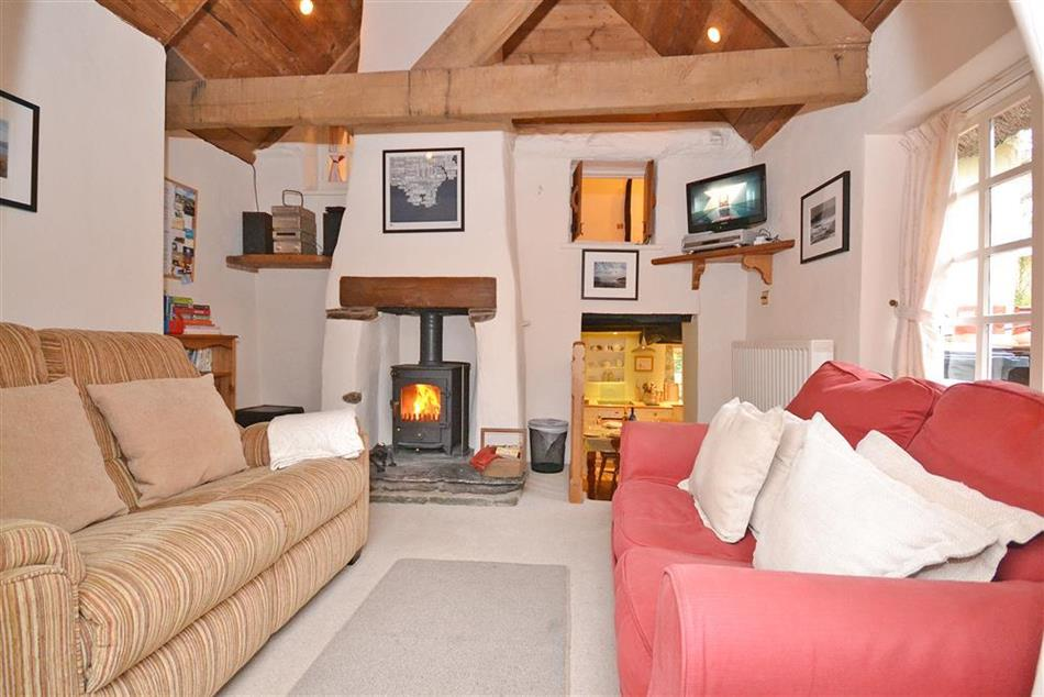 Living room in Valley Cottage, Slapton
