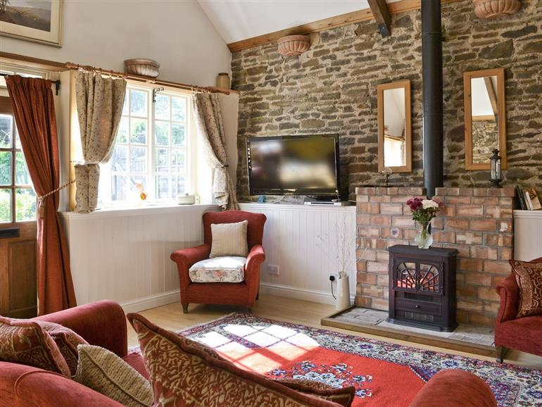 Living room in Waggonhayes, Somerset
