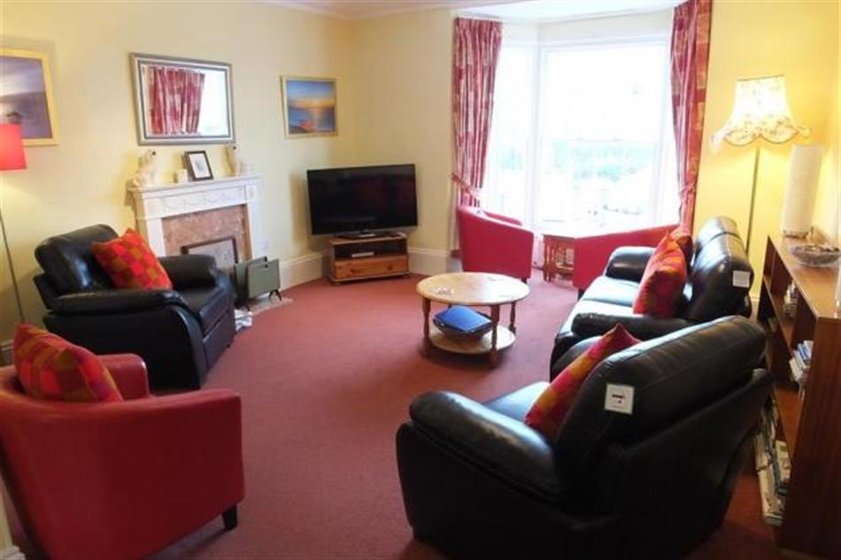 Living room in White House, Tenby