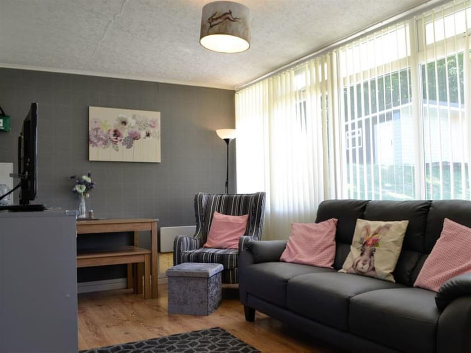 Living room in Woodlands Park Retreats - The Warran, Gilfachrheda, near New Quay, Cardigan