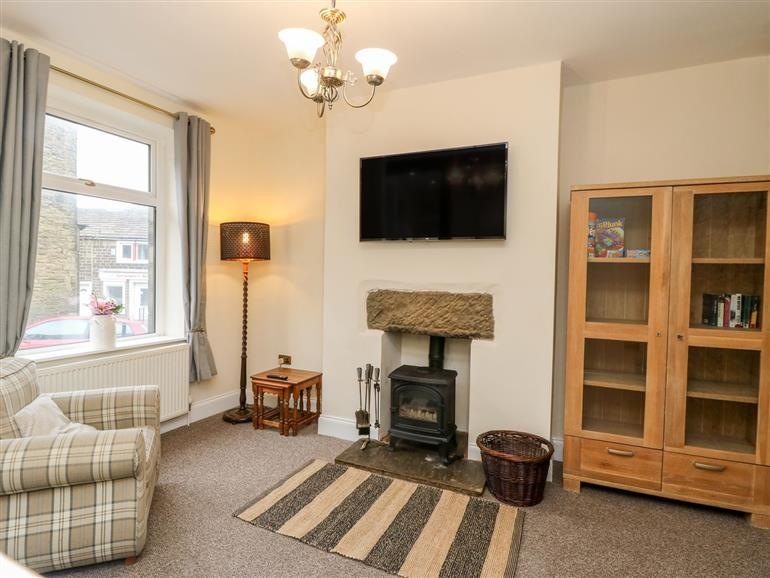 Living room in Worth Valley Lodge, Cross Roads near Haworth