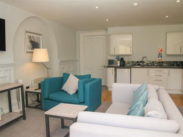 The living room at Lyndhurst in Mudeford