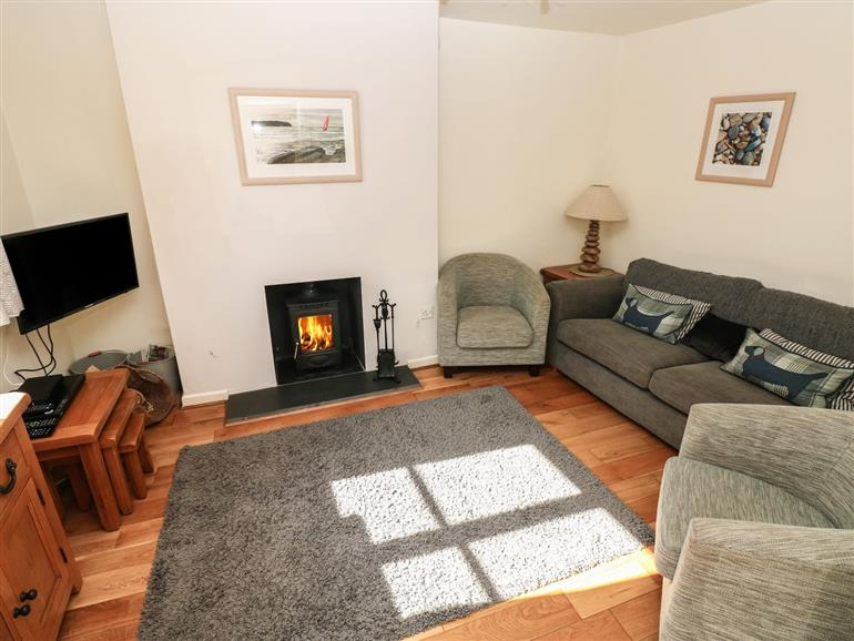 This is the living room at Oysterbank Cottage in Llangwm