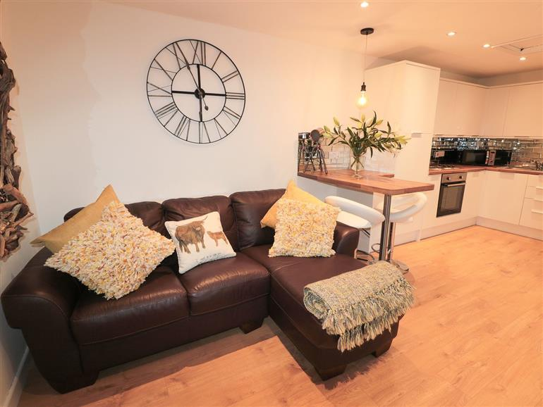The living room at Swale Cottage in Beadnell