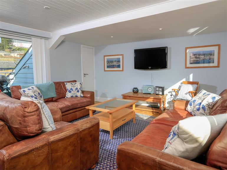 This is the living room at The Penthouse in Salcombe
