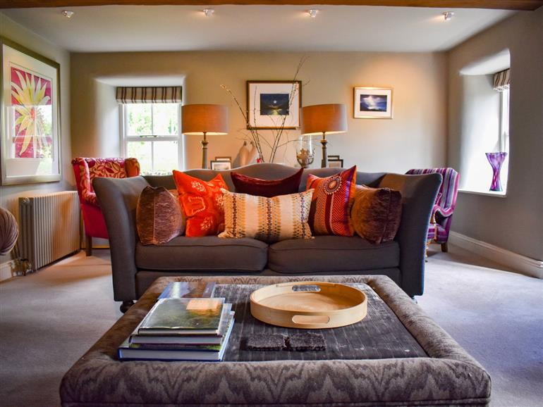 The living room at Yew Tree in Melkinthorpe near Askham