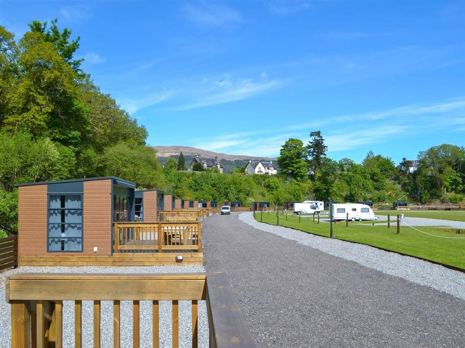 Outside GG Leisure - Loch Pod 14, Fort Augustus