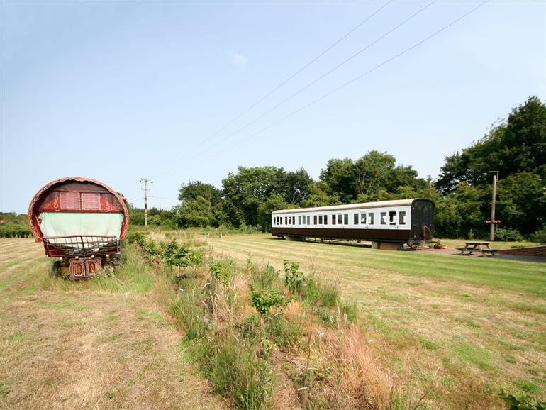 Setting of Railway Carriage Two, Brockford near Stowmarket