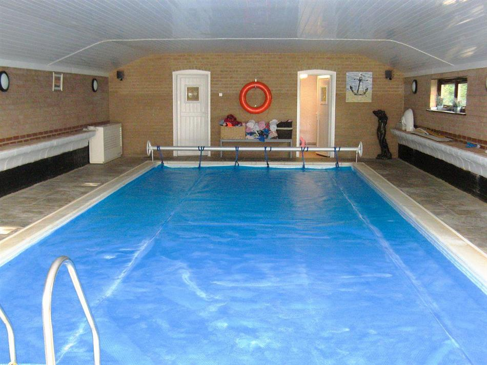 Swimming pool at Badgers Rest, Snettisham, near Hunstanton, Norfolk
