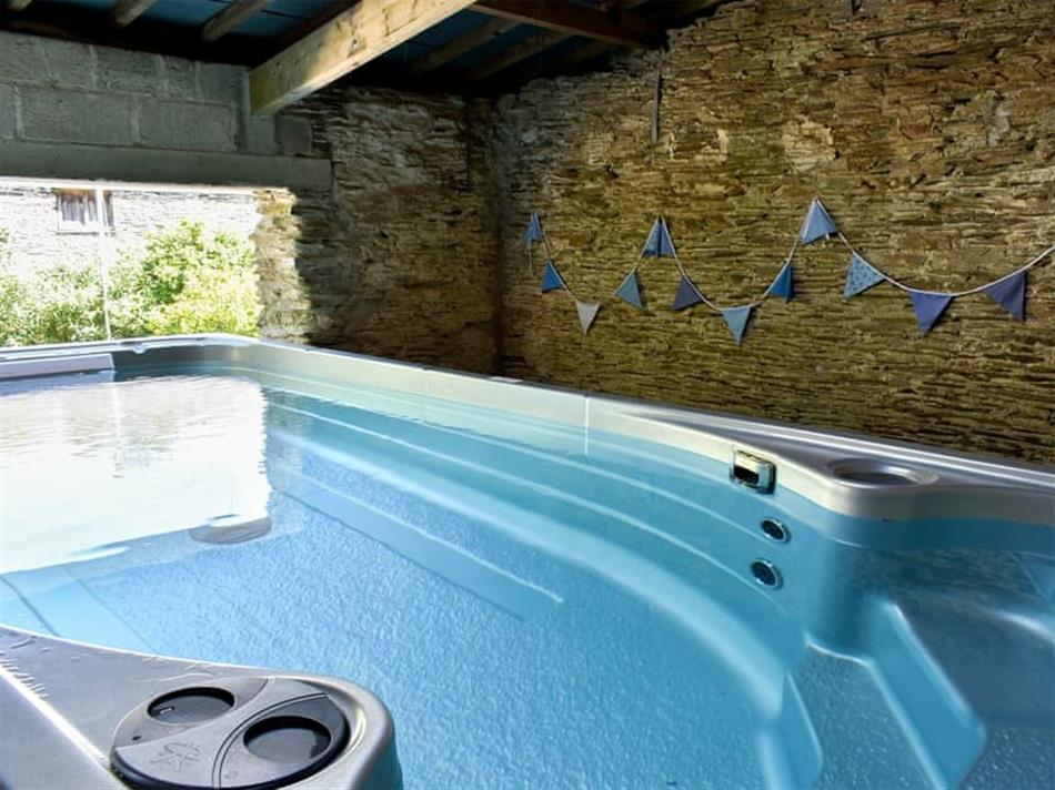 Swimming pool at Borough Farm House - Little Borough, Torpoint