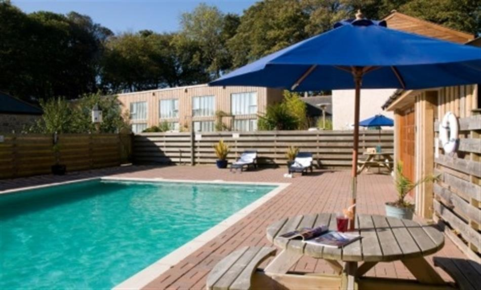 Swimming pool at Porthallow Cottage, Falmouth