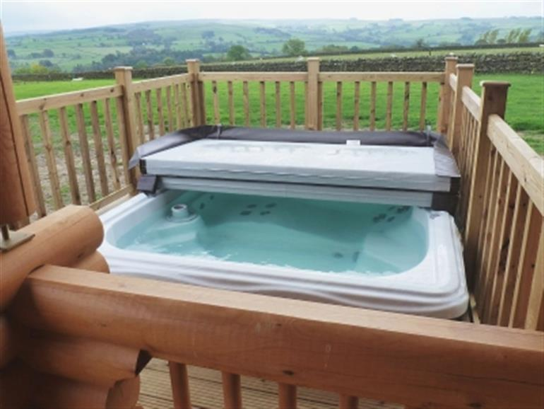 The hot tub at Whitfield, Park House