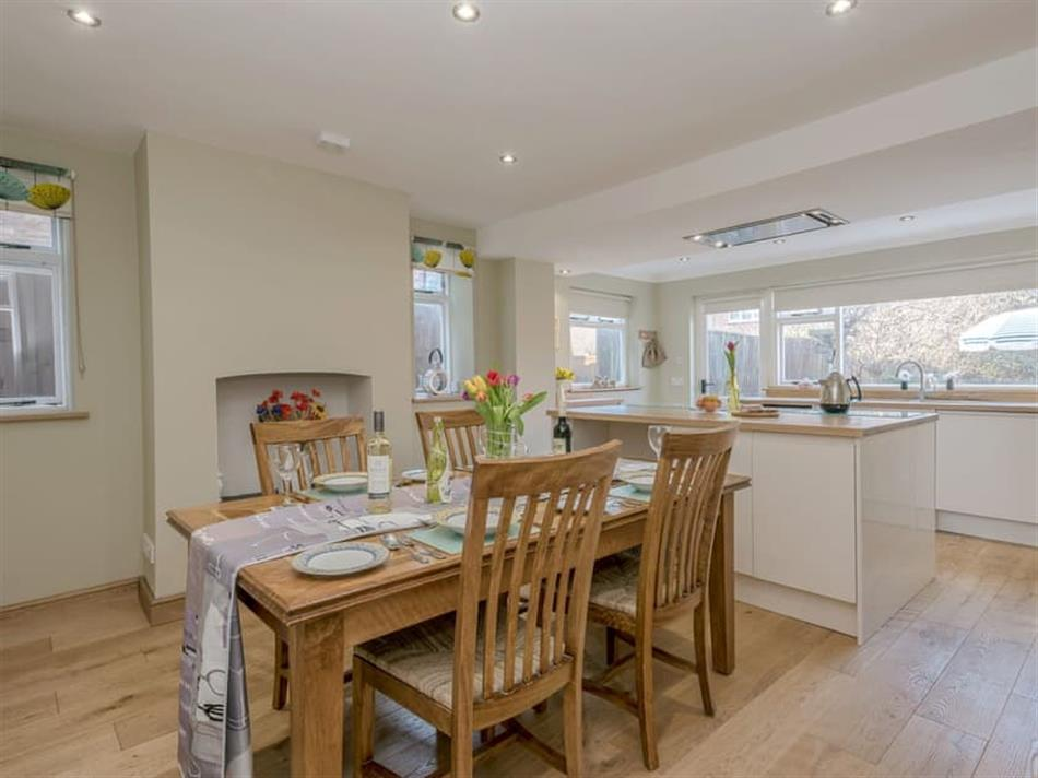 The kitchen and dining area in West End Cottage, Sheringham
