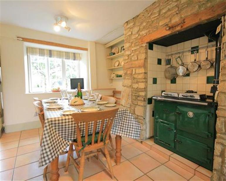 The kitchen in Apple Tree Cottage, South Cerney
