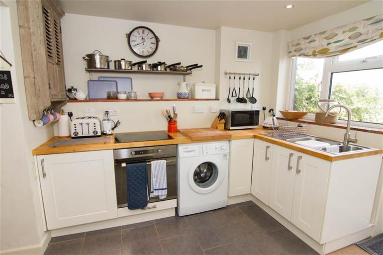 The kitchen in Burnham Cottage, Wells-next-the-Sea