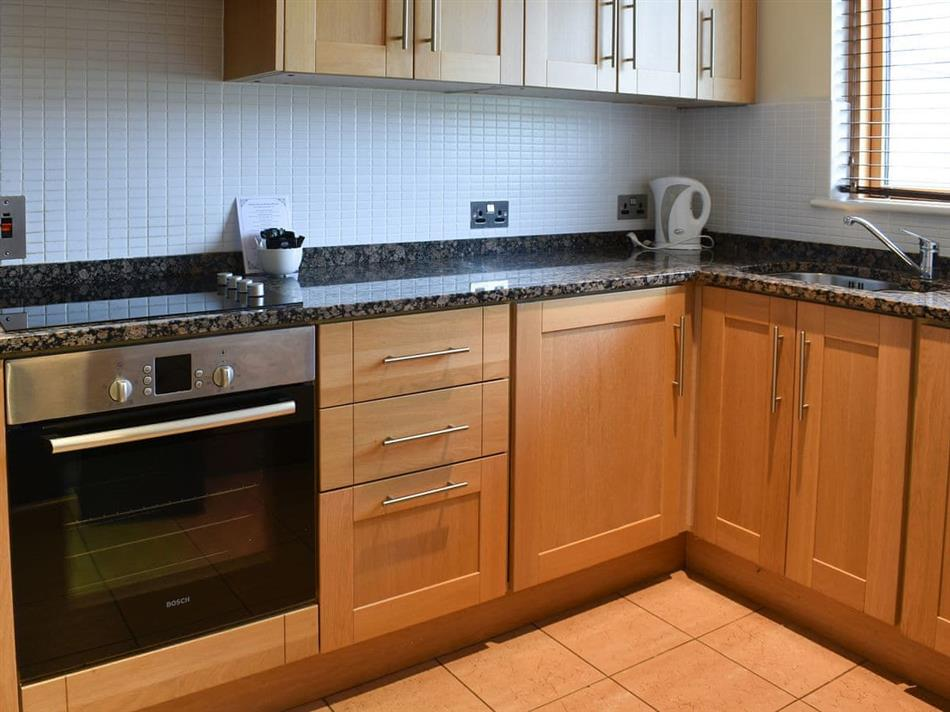 The kitchen in Johnstown Estate Lodges - Number 3, Enfield, Co Meath
