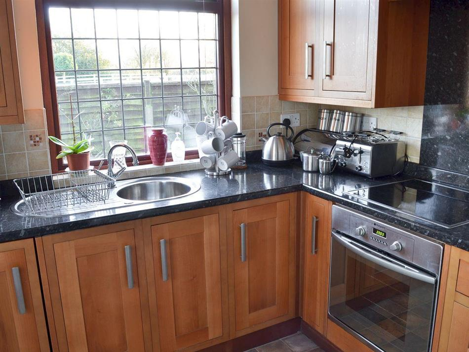 The kitchen in Marston House, Wrightington, near Wigan