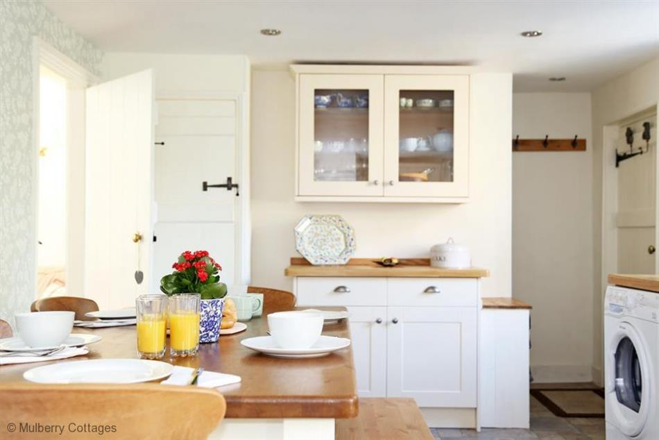 The kitchen in Pilgrim Cottage, Hollingbourne