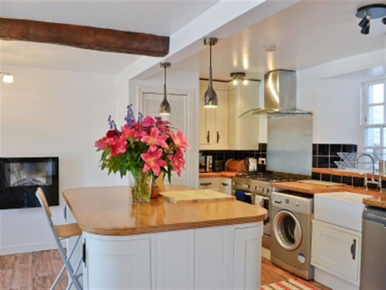 The kitchen in Sailors Cottage, Cramond Village near Edinburgh