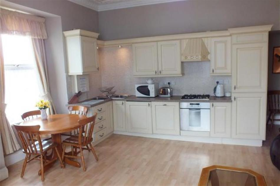 The kitchen in The Hilton Flat 1, Tenby