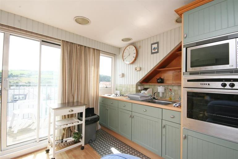 The kitchen in Upper Marcam House, Salcombe