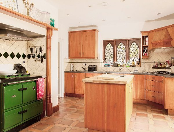 The kitchen as Gearagh House in Rossmore, near Clonakilty