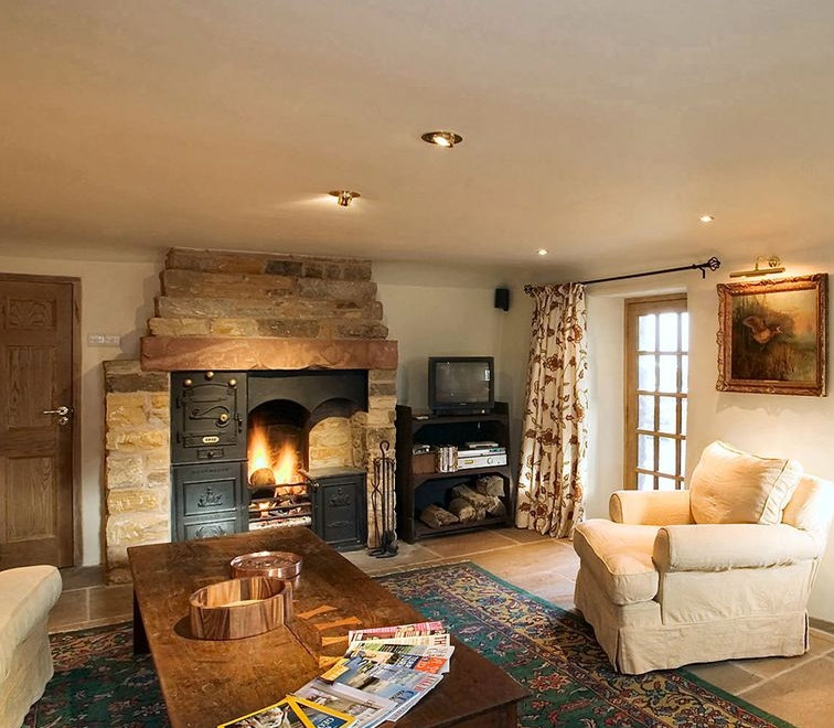 The living room at Yew Tree Farm in Reagill near Penrith