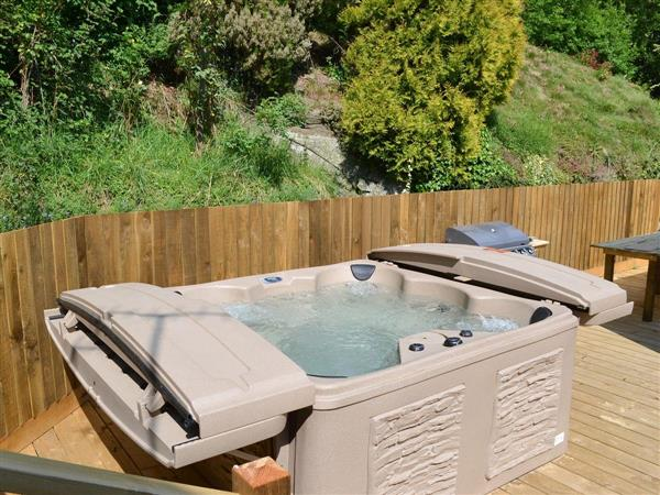 Burrills View, Horderley, near Craven Arms, Shropshire with hot tub