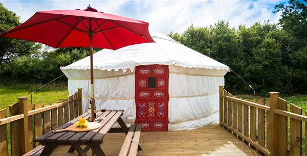 Orchid Yurt, Perranporth, The Atlantic Coast with hot tub