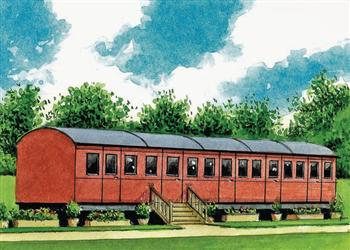 Railway Carriage One, Stowmarket, Suffolk with hot tub