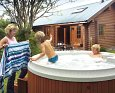 Lay in a Hot Tub at Discovery Lodge; Lochgilphead