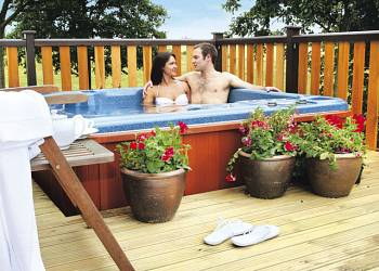 Hot Tub at Raywell Hall Country Lodges