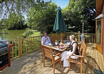 Lay in a Hot Tub at Upton Lakes Lodges