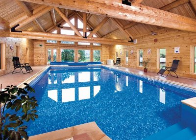 The swimming pool at Black Hall Lodges