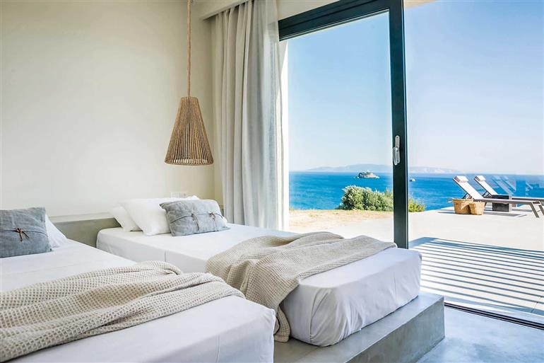 Bedroom in Villa Avithos Beach view, Svoronata