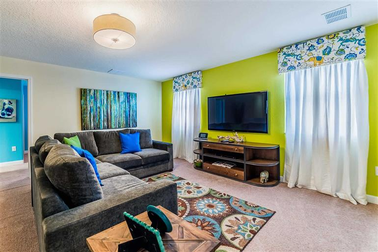 Living room in Villa Moon Valley, Champions Gate, Orlando - Florida