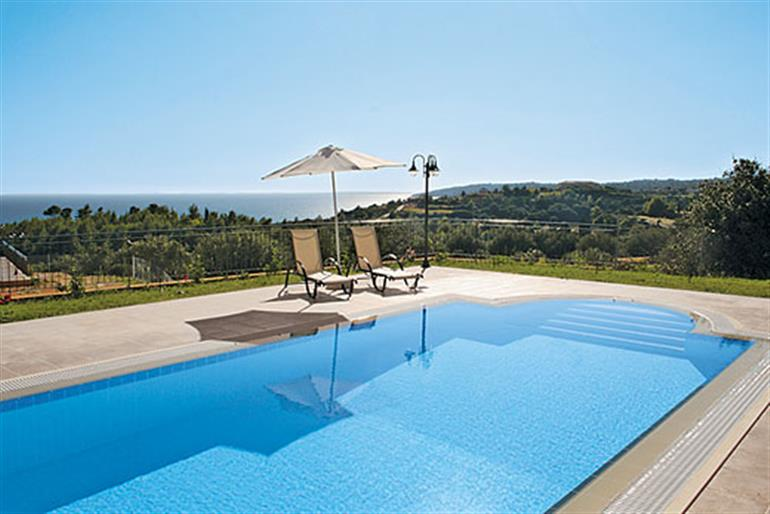 Swimming pool at Athina, Lourdas Kefalonia