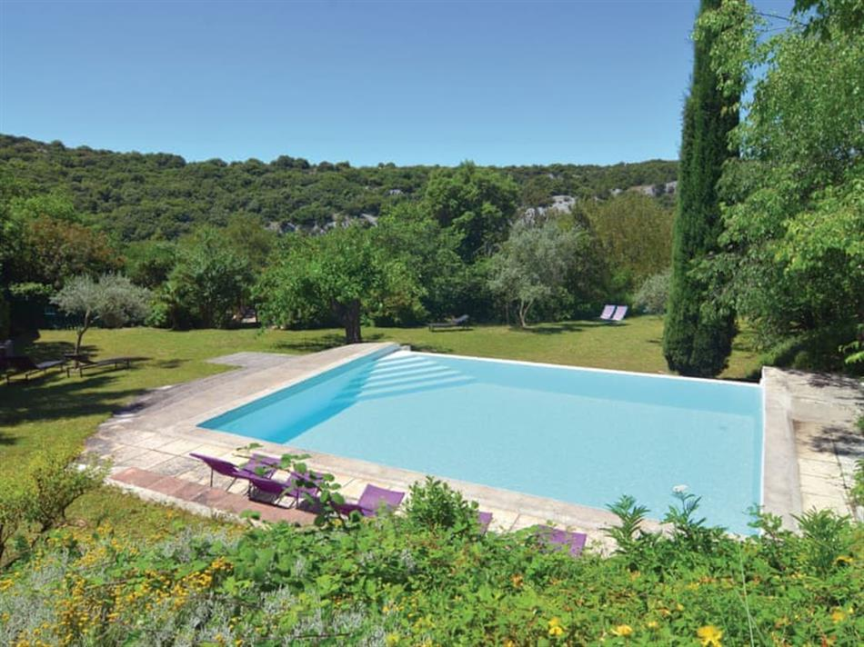 Swimming pool at Bouquet, Languedoc-Roussillon