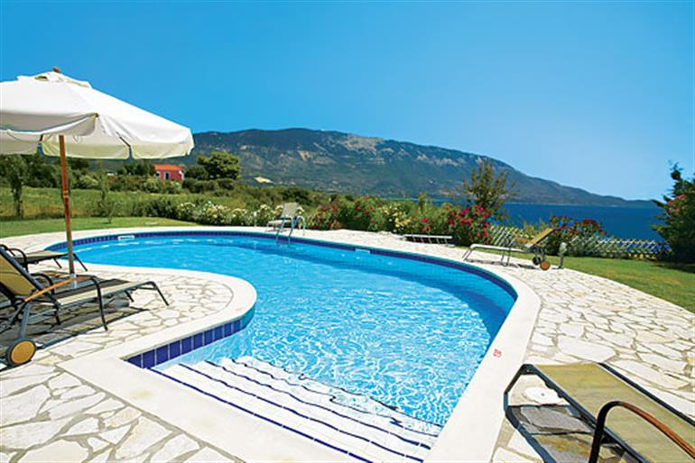 Swimming pool at Poseidon, Spartia Kefalonia