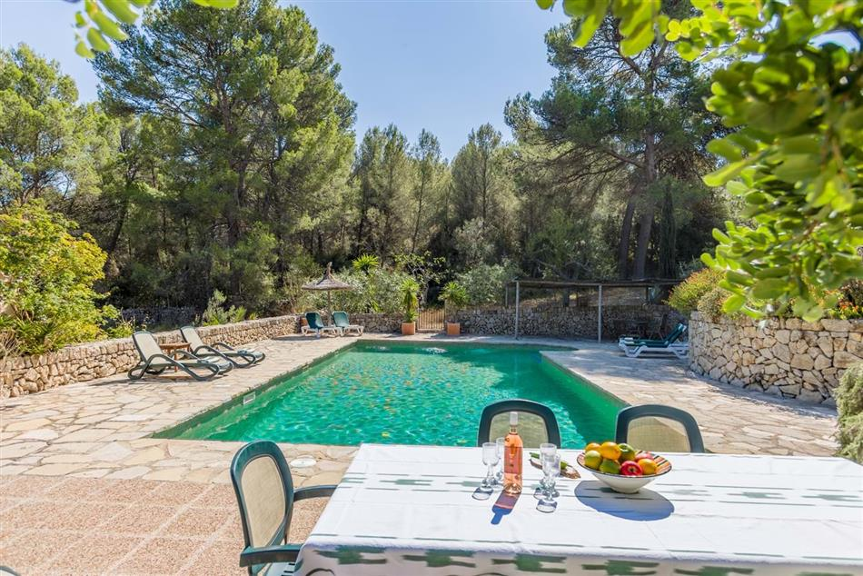 The swimming pool at Ca'n Isabella in Spain & The Balearics