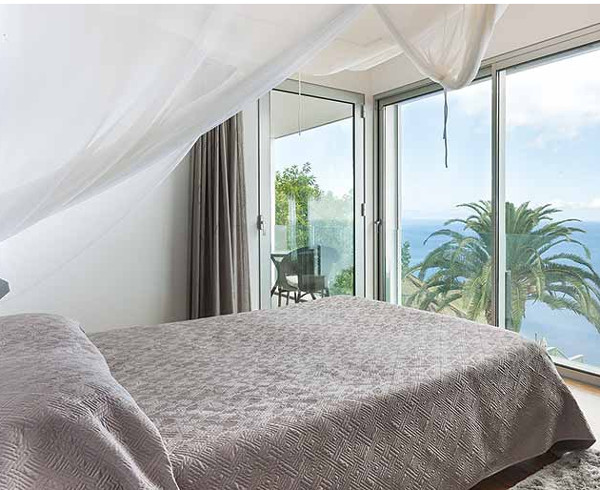 Wakeup each morning to the sea views at Tranquila on Madeira